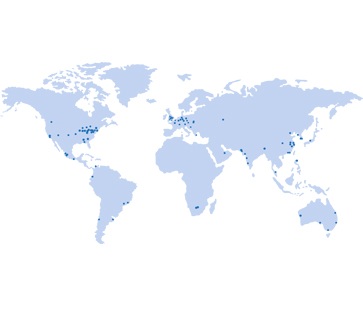 Map of Global Locations