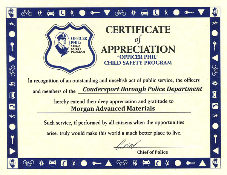 Safety programme certificate